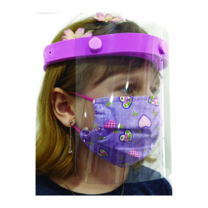 Face Shield infantil rosa